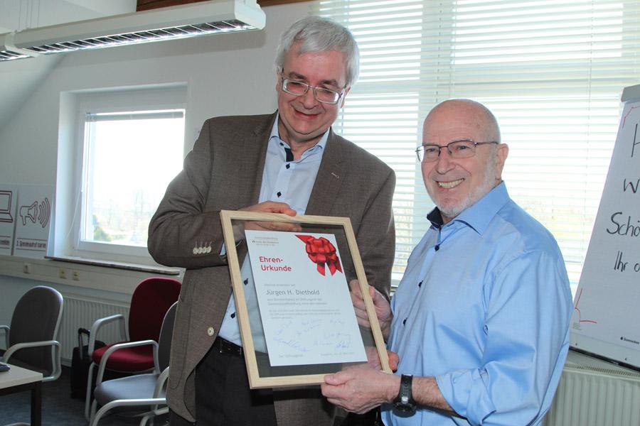 Jürgen H. Diethold Ehrenmitglied im Stiftungsrat